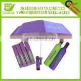 Personalized Logo Branded Wine Bottle Umbrella