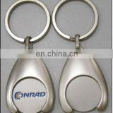 Handmade metal popular shopping cart metal trolley token coin.Trolley coin /token coin keyring China factory price