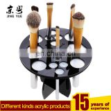 round black acrylic plexiglass pmma makeup brush holder drying rack