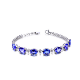 925 Sterling Silver Fashion Jewelry Gemstone Brass Bracelet Jewelry