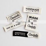 Folded Clothing Labels Custom Private Woven Label
