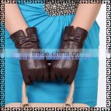 2016 Latest New Design Hot Sell Fashion Style Ladies Sheepskin Leather Work Gloves