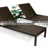 Outdoor Rattan Wicker Sun Bed and Chaise Lounge