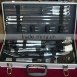 Aluminum black carrying top quality handy bbq tool set with aluminium case at an affordable price