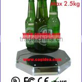 2.5kg max. weigt floating display with Leds for illumination, magnetic levitating display, magnetic floating display