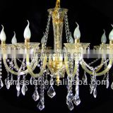 gold/silver Modern cystal Pendant Lights with 8 Lights Chrome Finished/heads crystal pendant light