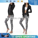 (OEM/ODM Factory)wholesale high quality Woman Sweatshirt Stretch Running Sport Knockout Full Zip Jacket