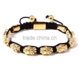 2016 Handmade Newest Designs Gold Beads Bracelets With Buddha Head Beads For Watch Lover