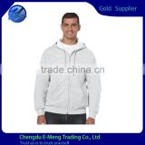 New Trendy Mens Grey Plain Hoodie with zipper