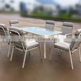 Patio outdooe furniture set with cushion cast iron garden furniture