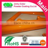 Candy orange powder coating paints for bicycle frame