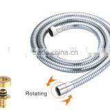 "200 cm length knitted stainless steel flexible hose for shower mixer with 1/2"" female and 3/8\"" male fittings"