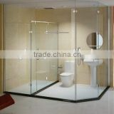Quick Lead Low Cost shape glass door for shower enclosures/cabin/bathroom