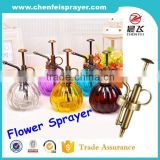 Factory direct sale fashion design garden sprayer flower spray pump with glass bottle for high quality