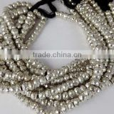 "1 Strand Nice Silver Pyrite Faceted Gemstone Rondelle Beads Bead 7"" Long,6mm,7mm,8mm,Natural Faceted Rondelle Silver Pyr"