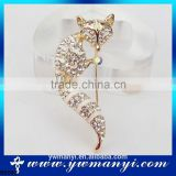 New hot Fashion Luxury Wedding Banquet Accessories Alloy crown Sexy Fox Brooch jewelry Charm women rhinestone brooch pin B0093