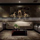 3 panel MDF Prints wood photo prints Modern Canvas Wall Art living room decoration 4 pannel MDF prints set