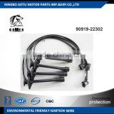 High voltage silicone Ignition wire set, ignition cable kit, spark plug wire 90919-22302 for TOYOTA