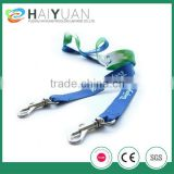 Cool lanyard with blue color cheap custom polyester lanyard for World cup brazil