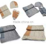 Winter Warm Cute Colorful Knit Hat Scarf Gloves Set for boys