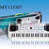 49 keys musical keyboard digital electronic organ for children 49 keys multi-function electronic organ with microphone