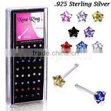 star CZ nose percing ring