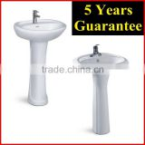 Pedestal basin for Indian market economic hand basin with pedestal bathroom vanity sink                                                                         Quality Choice