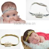 Princess Headband,Diamond Crown Ribbons Headband, Ruffle Head Accessories, Elastic Rope Headband, Girl Accessories