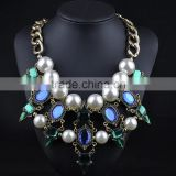 Wholesale crystal costume jewelry pendant necklace pearl choker necklace for women                                                                         Quality Choice