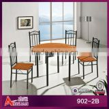 5 piece resturant PVC plastic round table dining sets