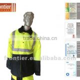 Frontier workwear/ 300D oxford PUcoating/ 3M reflective tape/ waterproof and breathable/ Hi-Vis freezer jacket