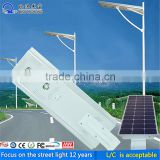 Efficiency and long life 40w all in one led solar street lamp intergrated 40W solar led street light with motion sensor
