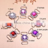 (M0907) 16colors,31mmx16mm,15mm bar, rhinestone connector for hair jewelry,silver plating,acrylic beads in middle