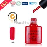 LACOMCHIR 10ml free samples red color gel polish ,high quality nail polish ,easy soak off uv gel