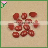 AAA grade oval flat back cabochon artificial glass red coral semi-precious stones