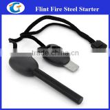Waterproof Survival Ferro Rod Whistle Camping Firestarter