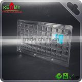 Custom Electronics 6*10 Components clear Packaging Tray, 6*10 cavities custom clear packaging tray for Electronics