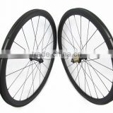 Factory price! 38mmx23mm clincher carbon wheels, 700C Full carbon bicycle wheels with Bitex hub and CX-delta spokes hot sale
