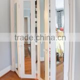 Custom Design 4 Slabs Interior Folding Doors, Wood Bifold Closet Doors with Mirror
