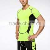 Compression Tights Running Set Short Sleeve Tops+Shorts Men's Training Gym Fitness Sports Suit
