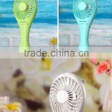 Factory Price Summer Cooling portable Mini Fans Vanes 3 Speeds Palm Leaf Fan with18650 Battery rechargeable fan