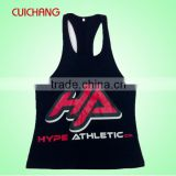 Wholesale plain loose tank top&custom wrestling singlet&gym stringer vest for men CC-711