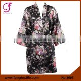 FUNG 3008 New Women Floral Satin Dressing Gown