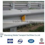 Road Safety PVC Reflective Delineator attached in Guard Rails