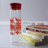 China Beautiful Design Antique Transparent And Water-proof Drinking Glass Sport Water Bottle