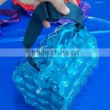 PVC inflatable shopping bag in blue,inflatable cute shopping bag,beach bag,air beach bag