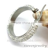 AAA crystal stainless steel beautiful earrings for girls                                                                                                         Supplier's Choice