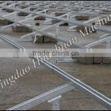 Aluminum Solar Photovoltaic Bracket with Concrete Base or Ground Screws -- Solar Ground Mounting System MRac GT III