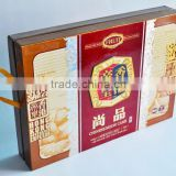Best design mooncake box made of paperboard with ribbon / Delicate food packaging box / Magnetic gift Box / Free sample / OEM