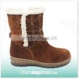Popular brown Cow Suede Leather Women's Boots Lady Boot